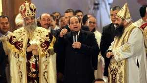 السيسي أول رئيس مصري يشارك بقداس الميلاد ويؤكد: كلمتي بالمولد النبوي لم تتعلق بالعقيدة الإسلامية