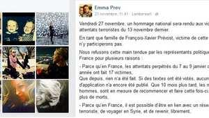 شقيقة ضحية لهجمات باريس: نحمّل الدولة مسؤولية ما وقع.. ولن نحضر حفل التكريم