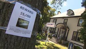 جائزة بقيمة 5000 دولار لمن يقبض على سارق لافتات ترامب