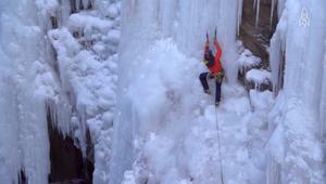 زراعة الجليد على المنحدرات.. بين الفن والهندسة والتشويق