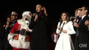 """شاهد.. الرئيس أوباما يغني """"جينغل بيلز"""""""
