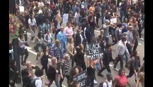 بالفيديو: احتجاجات في بريطانيا على عنف الشرطة الأمريكية ضد السود