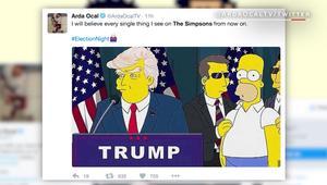 """شاهد.. حلقة """"ذا سيمبسونز"""" تتبنأ بفوز ترامب وإفلاس أمريكا قبل 16 عاماً"""