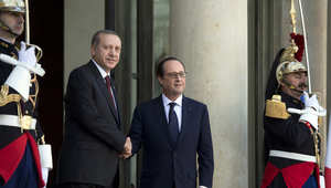 """أردوغان وهولاند من باريس: خصمان لنا في سوريا يجب محاربتهما معاً.. """"داعش"""" والأسد"""