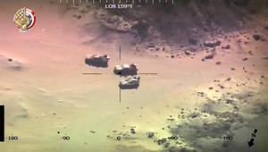 جيش مصر ينشر فيديو لاستهداف عناصر شاركت بهجوم الواحات