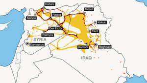 خارطة تفاعلية.. شاهد توسع تنظيم داعش منذ يونيو 2014 للآن