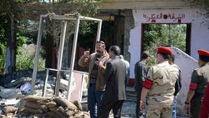آثار هجوم على موقع عسكري في القاهرة في 15 مارس/ آذار 2014