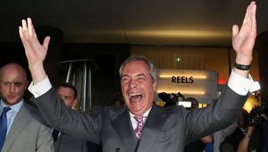 نايجل فاراج: نتيجة الاستفتاء تمثل فجرًا جديدًا للمملكة المتحدة.. وعلى كاميرون الاستقالة