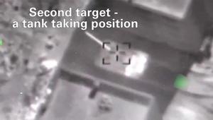الدفاع الإسرائيلية تنشر فيديو لأهداف الغارة بسوريا