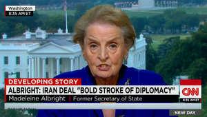 مادلين أولبرايت لـCNN: من يعارض الاتفاق النووي الإيراني لم يقرأه.. والتفاهم يفتح باب الدبلوماسية على مواضيع أخرى تهم أطرافا معينة