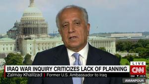 """""""تقرير تشيلكوت"""".. سفير أمريكا السابق ببغداد لـCNN: التدخل بالعراق خلق مشاكل ولكن انظروا لما خلقه قلة التدخل في سوريا"""