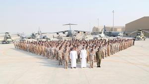بالصور.. أمير قطر يتفقد القوات الجوية الأميرية بالعديد
