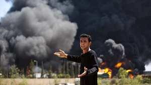 حريق في مخزن الوقود المغذي لمحطة توليد الكهرباء في غزة