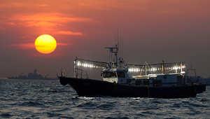 صورة أرشيفية لسفينة صيد