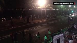 فيديو لما يعتقد أنه لحظة إطلاق النار خلال هجوم نيس