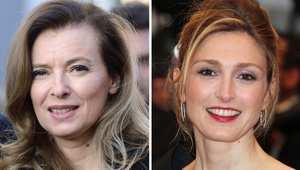 من اليمين، الممثلة جولي غايت وشريكة هولاند فاليري تريفيلار
