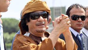 الرئيس الليبي السابق معمر القذافي