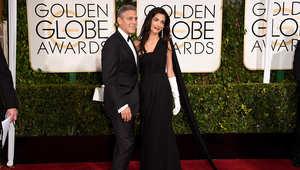 النجم العالمي جورج كلوني وزوجته أمل كلوني