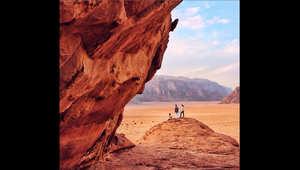 صورة التقطت في منطقة وادي رم جنوب الأردن.