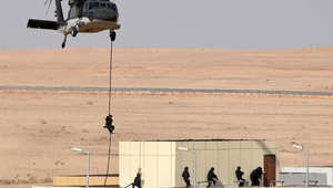 جانب من تدريبات يجريها الجيش السعودي بشكل دوري.