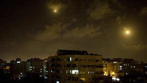 صورة لغارات إسرائيلية سابقة على قطاع غزة