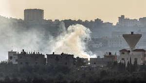 دخان يتصاعد بعد غارة إسرائيلة على غزة