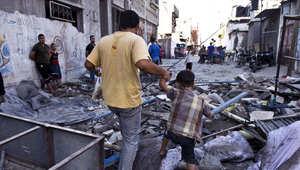 مظاهرة في غزة 2005