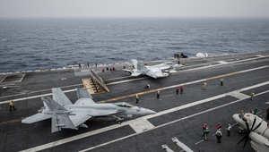 """صورة لمقاتلات متن حاملة الطائرات """"جورج واشنطن"""""""