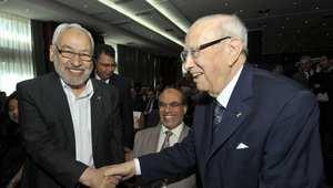الغنوشي يدعم السبسي ويؤكد مساندة النهضة للحكومة التونسية