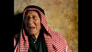 """غطوان، 100 سنة، تزوج من """"خدوج"""" قبل 72 سنة في ذروة الحرب العالمية الثانية."""