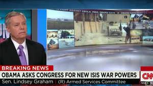 ليندسي غراهام يطلب عبر CNN إرسال 10 آلاف جندي أمريكي للعراق: فوضى داعش بالعراق وسوريا سببها أوباما وليس بوش