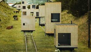 هل هكذا ستصبح منازل المستقبل؟ متنقلة بالسكك الحديدية؟