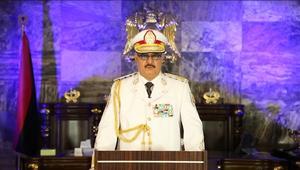 """حفتر يعلن تحرير بنغازي من """"الإرهابين"""".. ويبارك للسكان الانتصار"""
