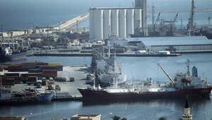 منظر عام لميناء طرابلس