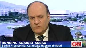 المرشح الرئاسي حسان النوري: أتمنى رحيل الأسد عن السلطة.. لكني أؤيد مكافحته للإرهاب