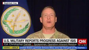 المتحدث باسم التحالف ضد داعش لـCNN: ندخل المناطق بصورة أسهل والتنظيم لا يقاتل بقوة