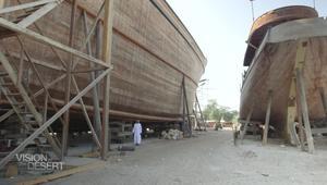 """أكبر سفينة """"داو"""" في العالم تبنى بالطرق التقليدية في دبي"""