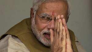 نيريندرا مودي، زعيم حزب بهاراتيا جاناتا الهندي الذي فاز بانتخابات رئاسة الحكومة