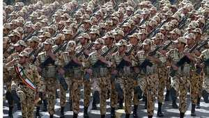 صورة ارشيفية لعرض عسكري أثناء احتفال الجيش الإيراني بيومه