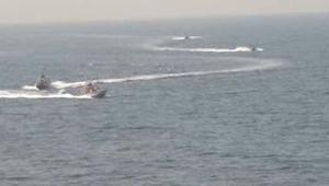 سفن حربية ايرانية تعترض مدمرة أمريكية