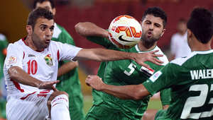 من مباراة الأردن والعراق