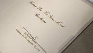 رسالة يرد فيها الرئيس العراقي السابق صدام حسين على تهنئة من الرئيس الأمريكي جورج بوش الأب