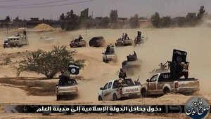 عدد من الجنود العراقيين يتجهون نحو الخطوط الأمامية لمحاربة داعش
