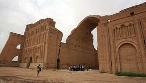 أحد الموقع الأثرية قرب العاصمة العراقية بغداد