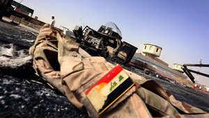بعض آثار أعمال العنف في العراق خلال المواجهات بين داعش والجيش العراقي