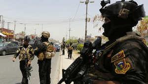 جنود عراقيون يشاركون في تأمين غرب العاصمة