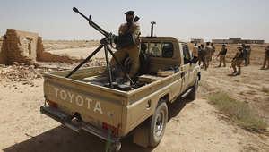 عناصر الجيش العراقي يتمركزون قرب مدينة كربلاء