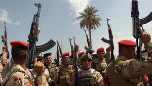 """جنود عراقيون يرددون أهازيج ضد """"داعش"""""""