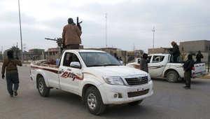 صورة ارشيفية لعناصر مسلحة من داعش في مدينة الرمادي العراقية