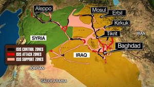 """خارطة توضح وضع """"داعش"""" حاليا في العراق"""